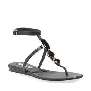 Diane von Furstenberg DVF Black 'Perugia' Sandals